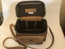 """CAMERA CASE """"The Sportsman"""" 502 bag 60's Cowhide Leather PERRIN Made In USA"""