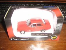 CARARAMA DIE CAST- FORD ESCORT Mk 1 - Red LIVERY 1:43