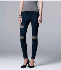 "BLACK Size 2//3 /""Fan Stripe Capri/"" Vera Wang Capri Leggings"