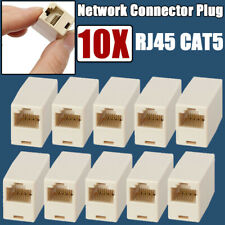 10X RJ45 CAT5 Cable Network Broadband Ethernet Connector Adapter Extender Plug