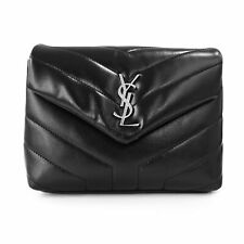 """Saint Laurent Loulou Toy Bag in Quilted """"Y"""" Leather in Black"""