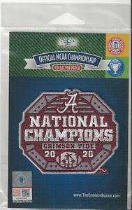 2020 Alabama National Champions Patch Official NCAA CFP College Jersey Logo