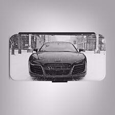 Audi R8 en la nieve exhiben Funda de Teléfono Abatible de Cuero adapta IPHONE SAMSUNG