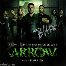 ARROW Season 2 La-La Land CD Soundtrack GREEN ARROW Autographed by BLAKE NEELY