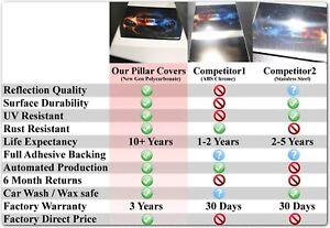 CHROME Pillar Posts for Cadillac XTS 13-19 8pc Set Door Cover Mirrored Trim