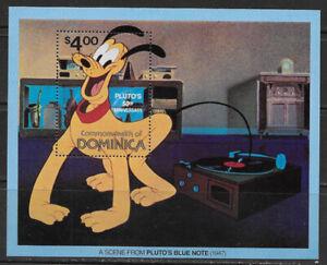 DOMINICA  , 1981 , DISNEY , PLUTO'S 50th ANNIV. , SOUVENIR SHEET , MNH , CV$3.50