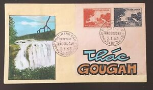FDC  VIET NAM   Stamps-  THAC GOUGAH ĐA LAT - Hand Painted -  1963