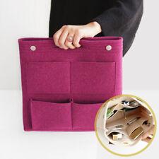 Travel Insert Organizer Multi-Pocket Handbag Purse Large Felt Makeup Bag New