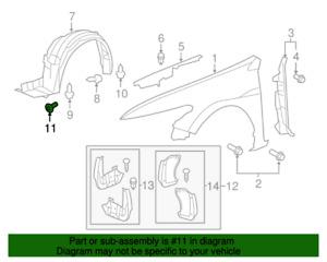 ( 1 ) GENUINE HONDA/ACURA 90682-SEA-003 Clip, Tapping Screw (5MM)