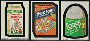 1979 Topps Wacky Packages1st Series Complete 66 Sticker Card Set & Wrapper
