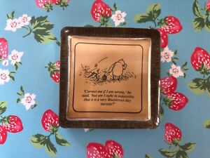 Village Green Country Crafts Vintage Winnie The Pooh & Piglet Glass Paperweight