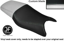 WHITE AND BLACK VINYL CUSTOM FITS HONDA CBR 600 F 97-98 DUAL SEAT COVER ONLY
