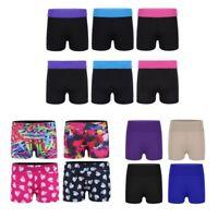 Kids Girls Printed Dance Gymnastics Shorts Sports Workout Bottoms Active Wear