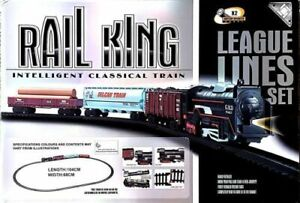 104 cm Rail King Intelligent Classical Train Track Set for Kids Toy