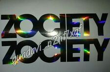 2x ZOCIETY Decal Windshield Windows car stickers