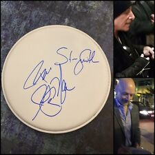 """GFA x4 Neal Schon Rock Band * JOURNEY * Signed 10"""" New Drumhead PROOF AD2 COA"""