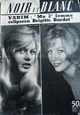 BRIGITTE BARDOT en COUVERTURE de NOIR et BLANC No 724 DE 1959 VADIM STROYBERG
