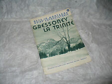 NEVE IN MONTAGNA GUIDE AUTOSCIATORIE N.4 1939 GRESSONEY LA TRINITE' A.C.I.
