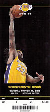 2013 LOS ANGELES LAKERS VS KINGS FULL TICKET STUB JORDAN HILL 3/17/13