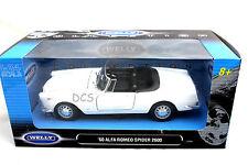 Welly 1960 ALFA ROMEO SPIDER 2600 WHITE 1/24 Diecast Car