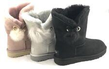 UGG Irina Women's Soft Sheepskin Boots Statement Pin Pom Pom Swarovski Crystal