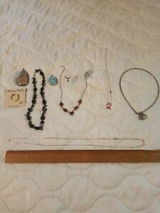 Sterling Silver Mixed Jewelry Lot Ring Necklace  Pin Pendant