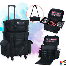 Trolley Make Up Case Extra Large Hairdressing Vanity Beauty Cosmetic Box 360º
