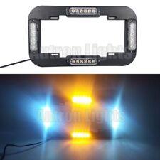 """13.5"""" LED Warning Flash Traffic Adviser Strobe License plate lights Amber White"""
