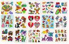 Vintage Sandylion Animals Stickers Glitter Prism Kromekote - You Choose