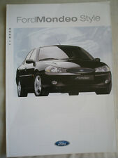 Ford Mondeo Style range brochure 2000 German text