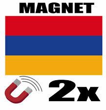 2 x ARMENIE Drapeau Magnet 6x3 cm Aimant déco ARMENIE magnétique frigo