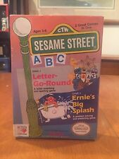 Seasme Street Nintendo NES Video Game Letter Go Round & Ernie's Big Splash NIB