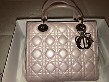 87ff672836c5 New Authentic Medium Lady Dior Bag in Rose Poudre