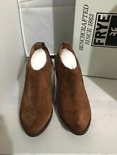 NIB FRYE ILANA Suede Western Slip On Bootie WOOD BROWN Sz 7.5, 8 And 9.5 $278