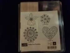 Stampin' Up! Polka Dot Punches Stamp Set Partially Unmounted Retired Wood Blocks