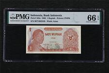1968 Indonesia Bank Indonesia 1 Rupiah Pick#102a PMG 66 EPQ Gem UNC
