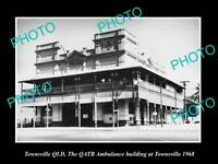 OLD LARGE HISTORIC PHOTO OF TOWNSVILLE QLD THE QATB AMBULANCE STATION c1969