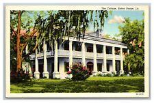 Baton Rouge, LA Louisiana The Cottage Harris News Agency Linen Postcard Unposted