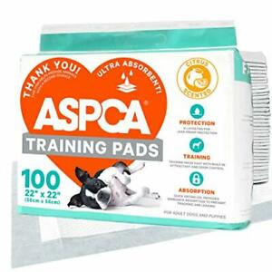 """ASPCA AS Citrus Scented Training Pads, 100 Pack, Gray, 22"""" x 22"""" - Pack of 100"""