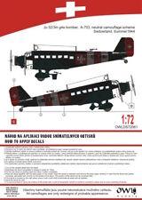 Owl 1/72 Junkers Ju-52/3M Bombardero Switzerland (Neutral Camo con Rojo & Blanco