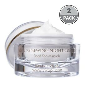 Vivo Per Lei Cell Renewal Renewing Night Cream with Dead Sea Mnierals Pack of 2