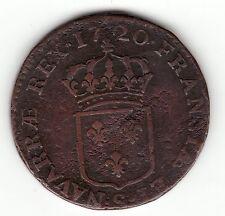 1720 S French Colonial copper sol, John Law period,  Breen's # 298