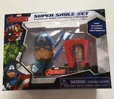 Marvel Avengers Boy's Super Smile Toothbrush Holder Toothbrush & Rinse Cup Set