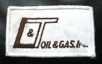 L ~ T ~  GAS OIL EMBROIDERED SEW ON ONLY PATCH  ADVERTISING UNIFORM  vintage