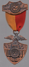 Rare Utica, NY Medal of Honor Spanish War Veterans Ribbon Medals Pin July 1915