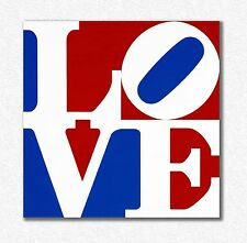Robert Indiana     Love     90 X 90 CM   STAMPA SU TELA  CANVAS QUADRI