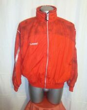 Vtg Men's HUMMEL Red Tracksuit Top Casual Terrace Lined Jacket sz S great con