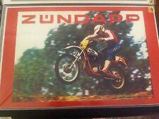 Vintage Zundapp Dirtbike Motorcycle Art Poster Man Cave Garage Art Fathers Day