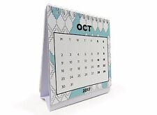 COLOUR 2017 Desk Calendar Flip Monthly Desktop Calendar