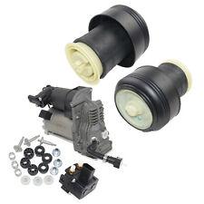 Pair Suspension Air Spring + Compressor Pump Fit BMW X5 E70 X6 E71